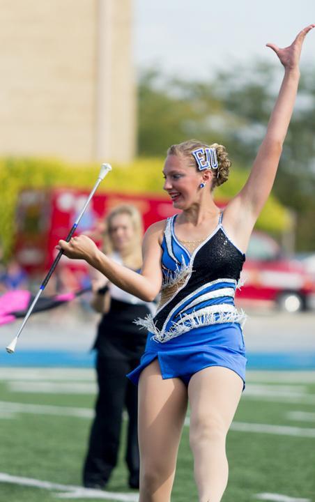 Give it a whirl: Alumni will join Eastern's baton twirler