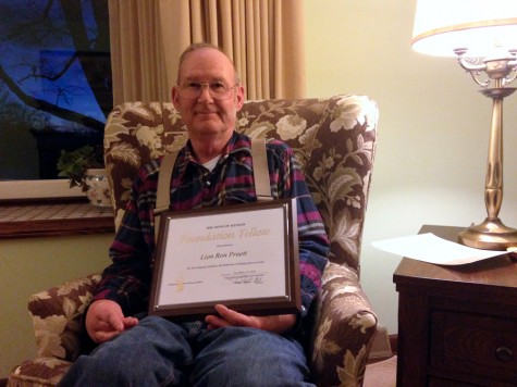 Resident recognized for service to country