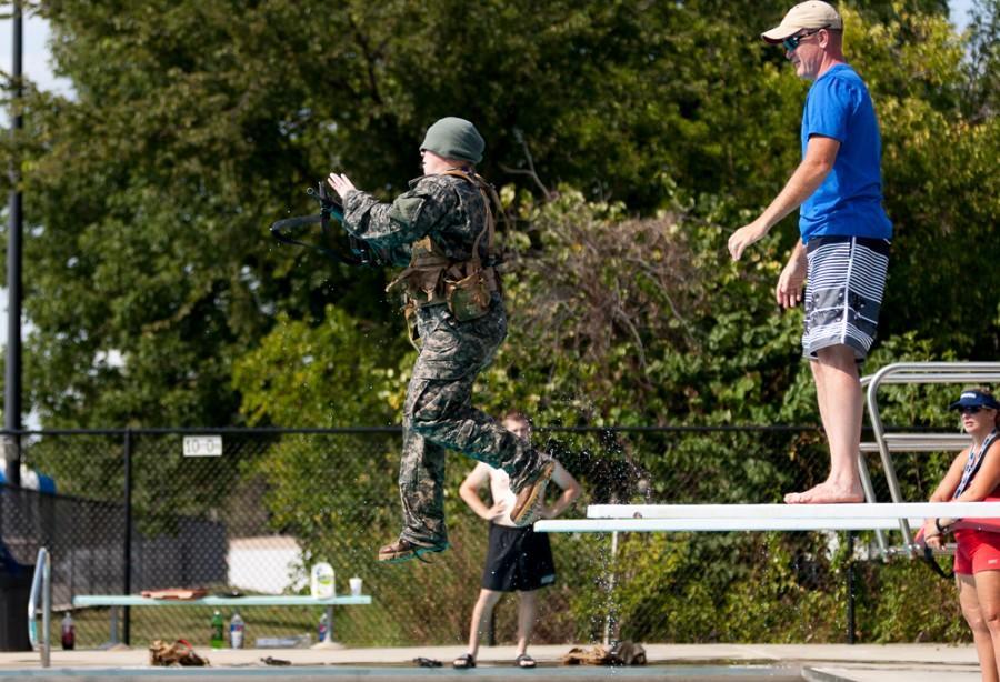 ROTC goes through water training