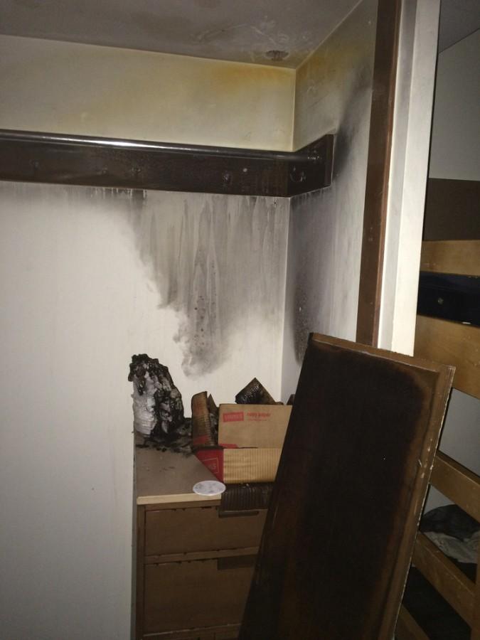 Fire damages closet in Stevenson Hall
