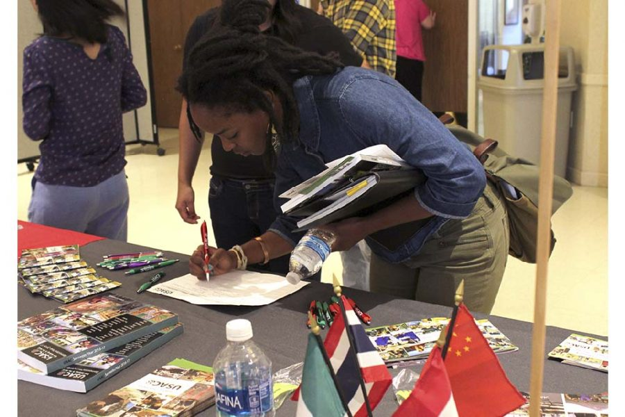 Students explore the world at Study Abroad Fair