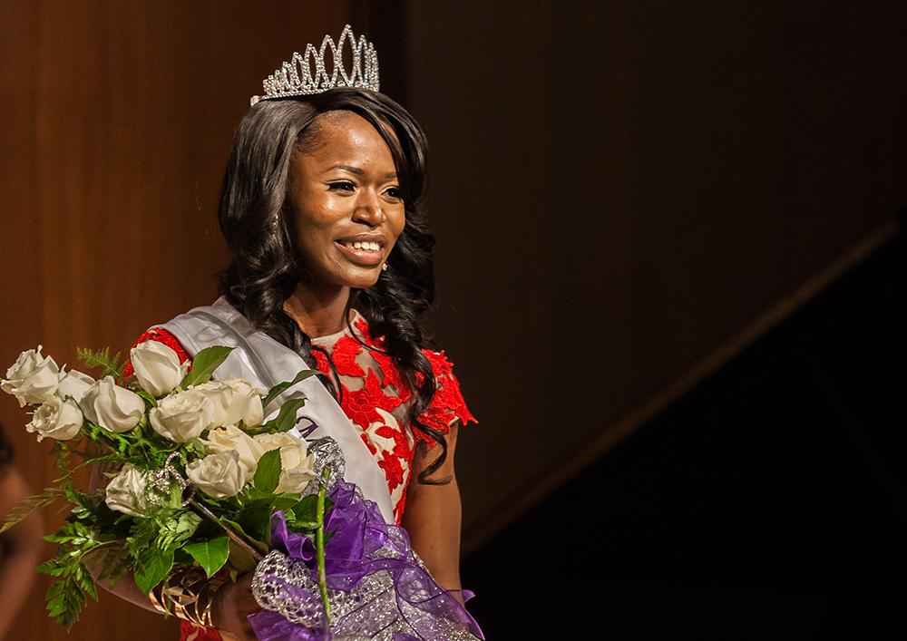 Senior Fudia Jalloh, a family and consumer sciences major was crowned Miss Black EIU Saturday evening.