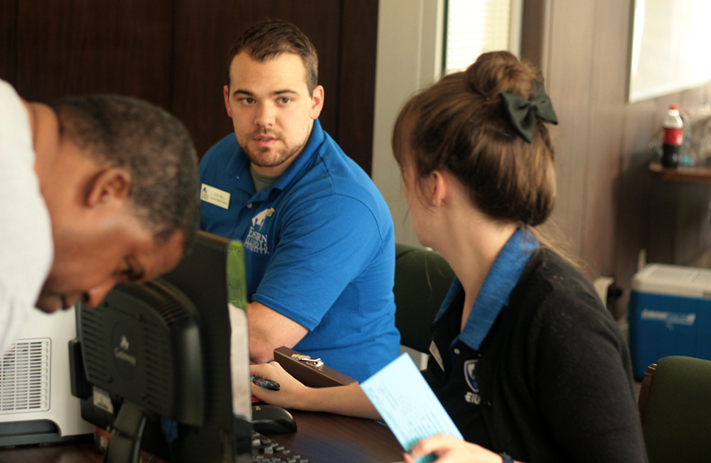 Conference assistants represent Eastern, helpcampers