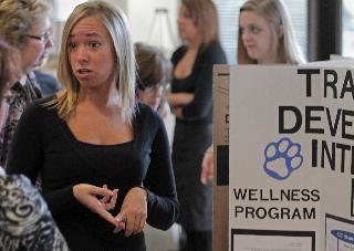 Students show internship work