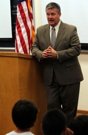 Photo: State treasurer visits Eastern, BoysState