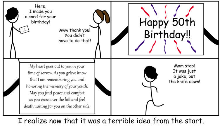 Cartoon Birthday Card The Daily Eastern News