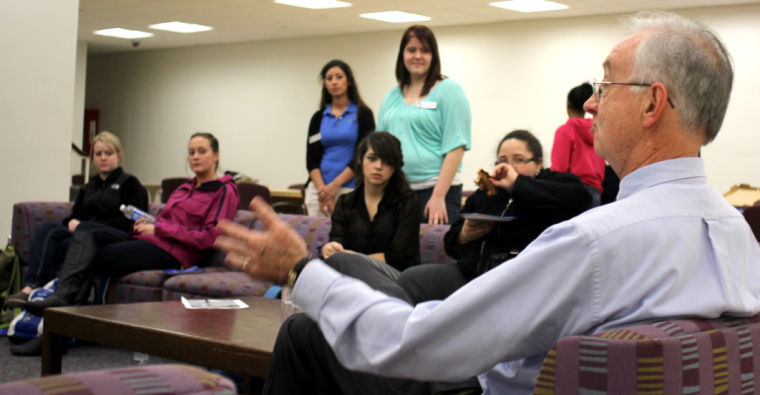 Photo: Students raise issues with Perry