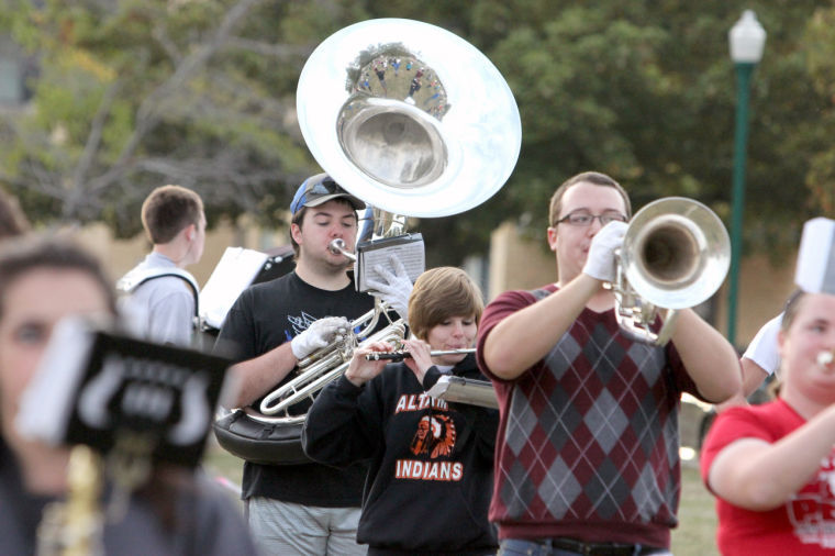Photo: Panther Marching Band prepares for Homecoming events