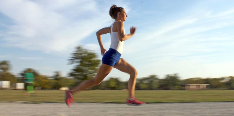 Photo: Freshman runner bursts on scene
