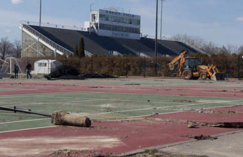The initial stage of repairing Darling Courts begins on April 9, as the men's and women's tennis teams were forced to play most of their home matches at Charleston High School. The repairs will cost Eastern $224,350, with the scheduled complete date of June 30 still expected by Ne-Co Asphalt.