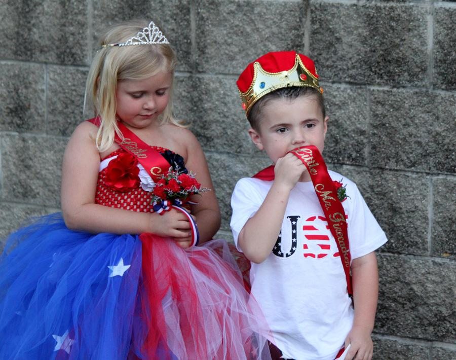 Kelsey Trigg and Gavin Porter are crowned Little Miss and Mr. Firecracker 2014. They will be featured in the Red, White and Blue Days Parade at 1p.m. Friday at Morton Park.