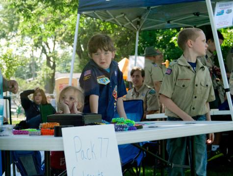 Boy sells armbands during the celebration July 3.