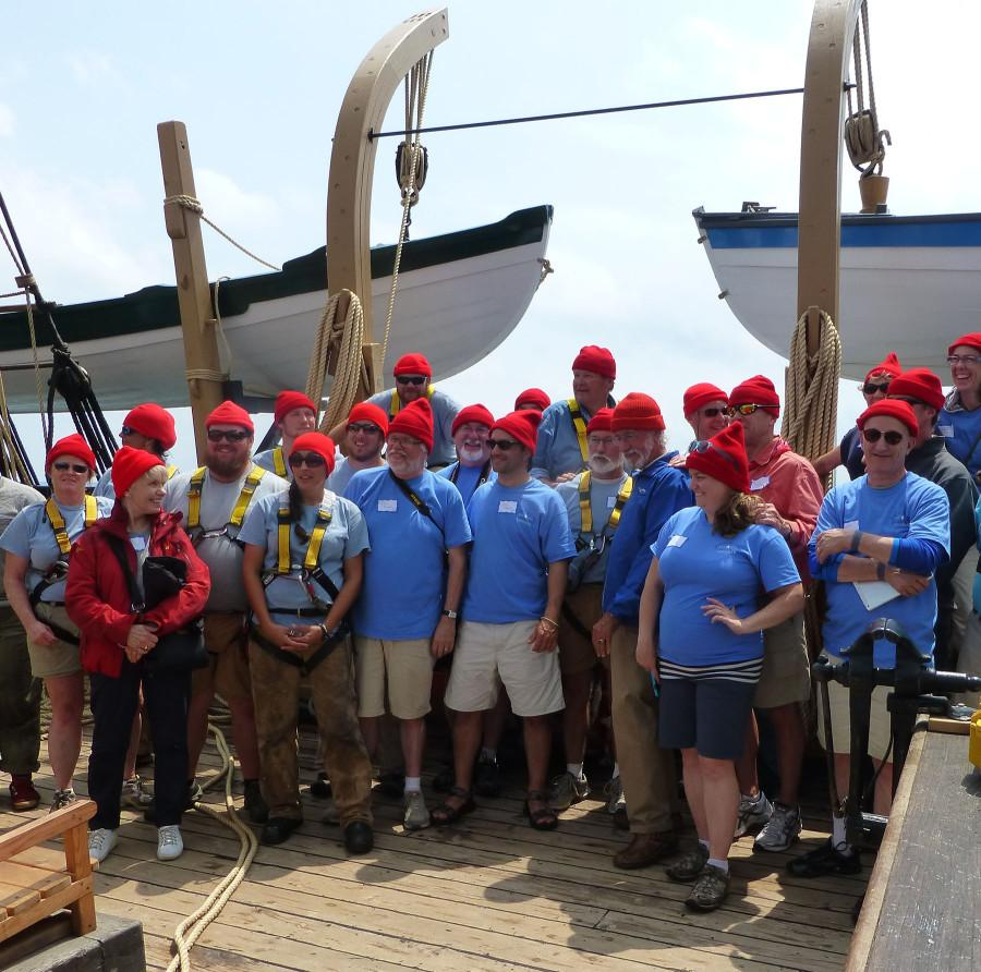 Foy and his team set sail July 15 on a Whaling ship and will be returning in August.