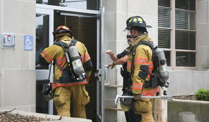 Humidity triggers fire alarm in physical science building