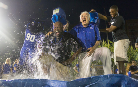 Perry, Solomon do ALS challenge at First Night