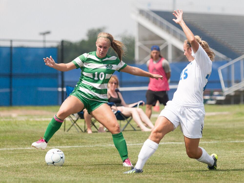 Women's soccer team drops match to Marshall – The Daily ...