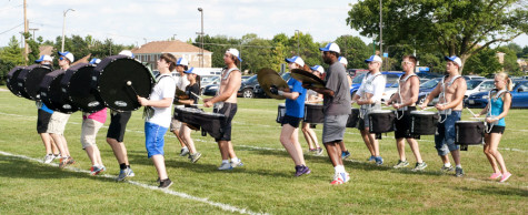 Marching band prepares for first game of season