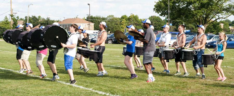 Panther+Marching+Band+rehearses+on+O%27Brien+Field+Wednesday.+