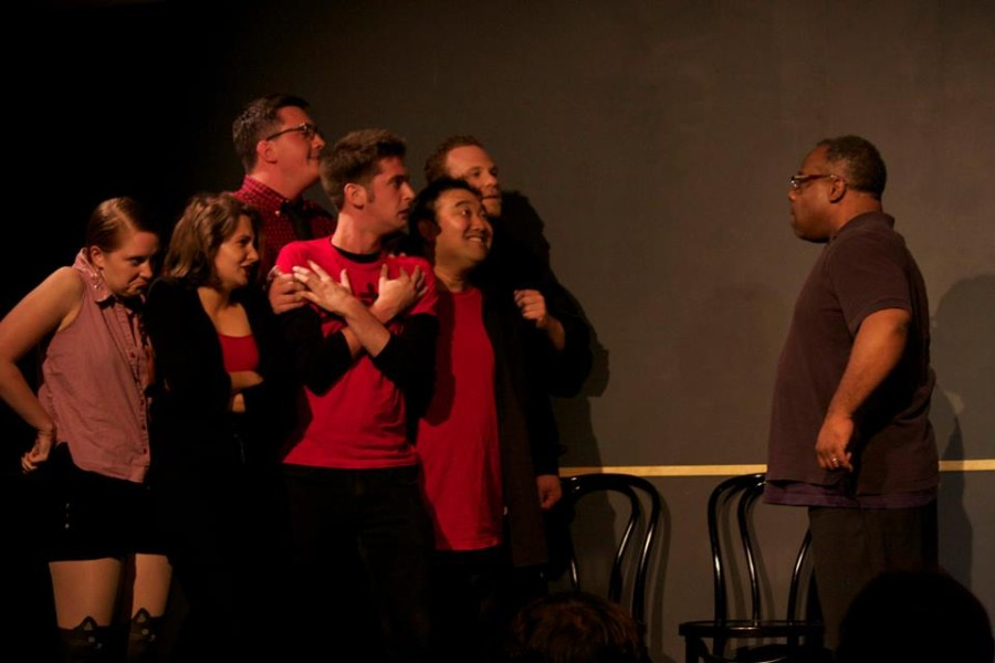 Submitted photo Chicago Improv Productions preforms their fully improvised show The Collage at The Second City Skybox. The Collage is a show built of unrelated scenes which make up a thematic piece.