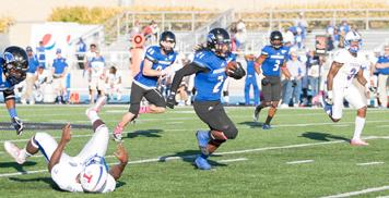 Red-shirt junior running back Shepard Little runs in for a 50 yard touchdown securing the Panthers 28-3 homecoming win over Tennessee State Saturday at OBrien Field.  The Panthers improved to 3-1 in the OVC as Little led Eastern with 130 rushing yard against the Tigers.