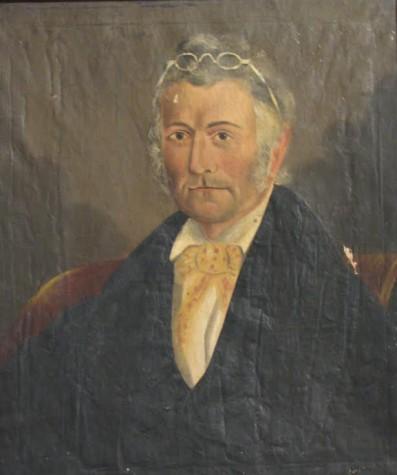 Artist unknown, Portrait of Charles Morton before restoration