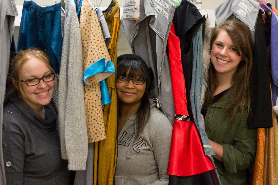 Students from Doudnas Costume Shop create fashion for Carnival