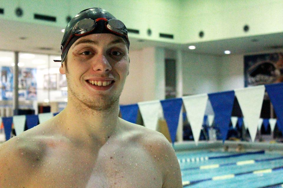 Eastern junior swimmer Dylan Ferguson has two times in the programs all-time top ten list in the 1000 freestyle and the 400 individual medley