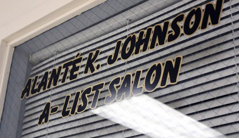 Alante Johnson, a senior communications major, owns her own beauty salon in the basement of the Martin Luther King Jr. University Union.