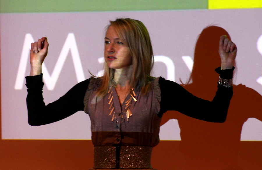 Eastern+professor+Charlotte+Pence+speaks+on+her+book+in+the+Doudna+Fine+Arts+Center+Thursday+in++Doudna%E2%80%99s+lecture+hall.+Pence+read+poems+that+were+published+in+her+new+book.