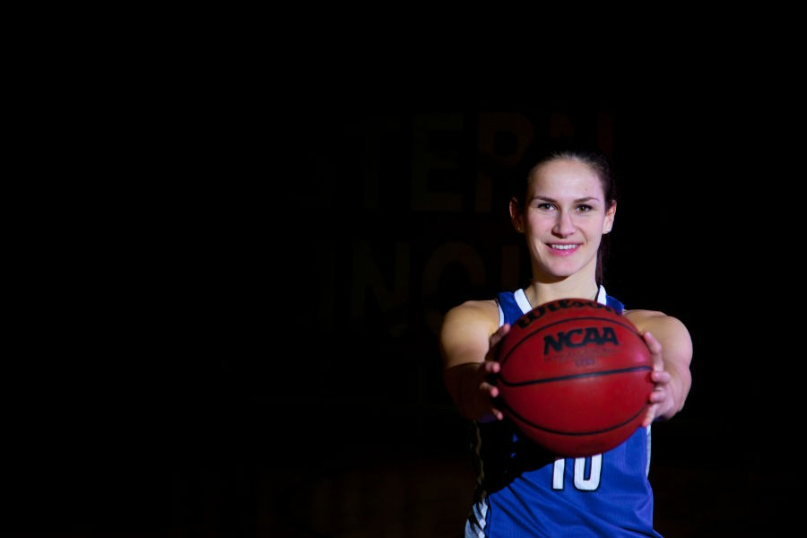 Sabina+Oroszova%2C+who+had+never+been+to+the+United+States+before+coming+to+Eastern%2C+finishes+her+collegiate+basketball+career.