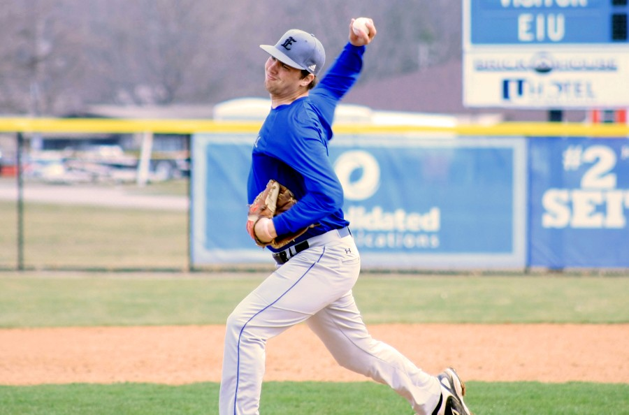 Brendon Allen, a junior pitcher, prepares to pitch in the Panthers' scrimmage Wednesday at Coaches Stadium. The Panthers current record is 0-17.