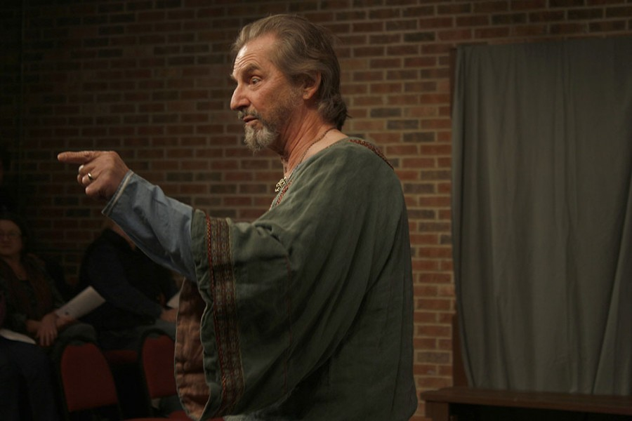 """Henry II, played by Duke Bagger, tries to win the fight of who will be crowned king in the play """"The Lion in Winter"""" on Friday at the Charleston Alley Theater."""
