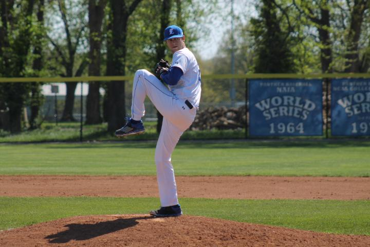 Senior+pitcher+Andrew+Grahn+winds+up+to+pitch+during+the+game+against+St.+Louis+University+Tuesday+in+Coaches+Stadium.+The+Panthers+went+on+to+win+the+game+13-4.