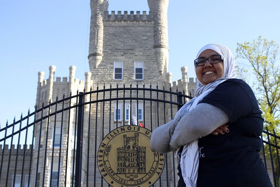"""Shirmeen Ahmad, a junior journalism major and newly elected Student Body President, states that she is most excited about making connections with the student body and registered student organizations on campus. """"I can't wait to meet new people,"""" Ahmad said, """"I love it."""" Ahmad's term will begin next Fall."""