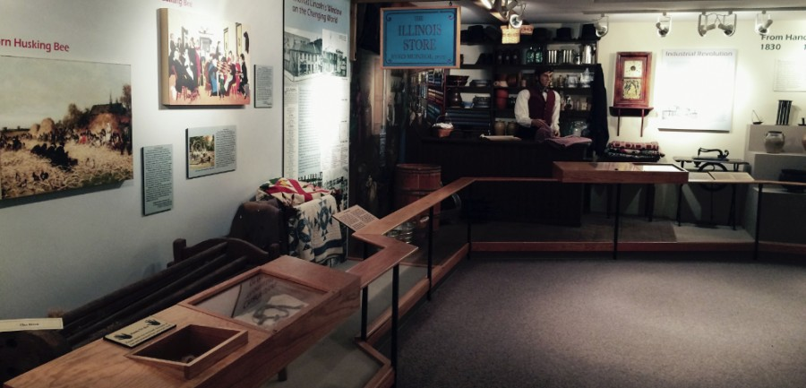 A+small+museum+containing+historical+information+on+President+Abraham+Lincoln+and+life+in+the+1800s+in+the+Lincoln+Log+Cabin+in+Lerna%2C+Ill.+