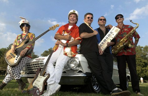Captain Rat and the Blind Rivets, a rock band from Champaign, will perform at 2:30 p.m. July 4 at Morton Park for Red, White & Blue Days. From left to right, members are: Mark Rubel, bass; Timmy Ray, guitar; Buster B. Dordaun, drums; Roger Prillman, keys; and Tary Powers, sax.