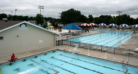 The Rotary Community Aquatic Center opened at 4 p.m. Thursday because of the unseasonably cold temperatures. Attendence of the pool has been lowered by the rainy week.