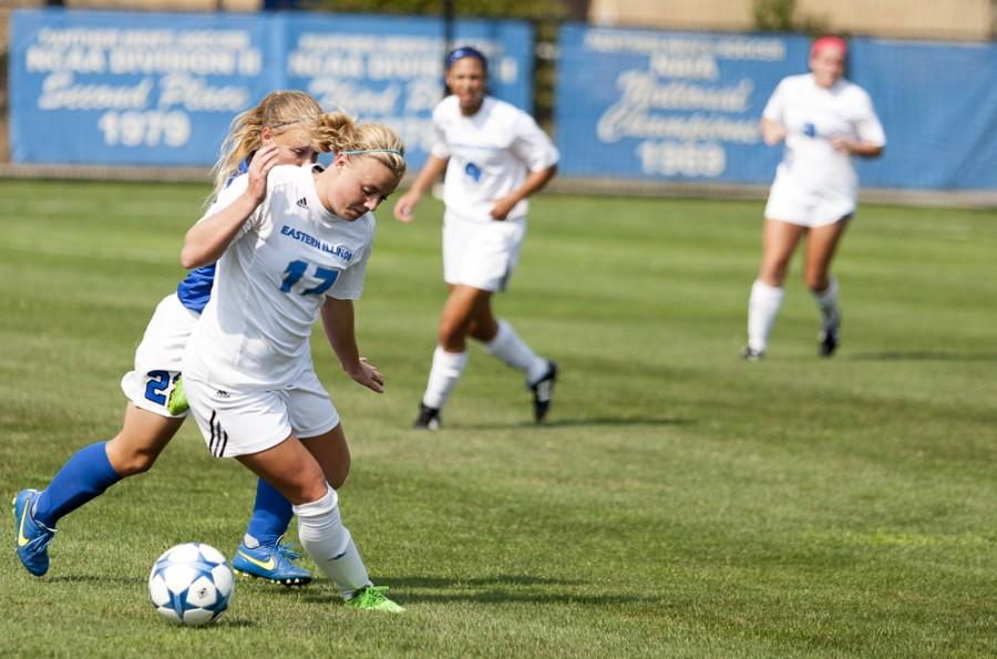 Junior Kathleen MacKinnon, nominated for OVC Offensive Player of the Week, scored her first season goal during the Panthers 3-2 loss on Friday.