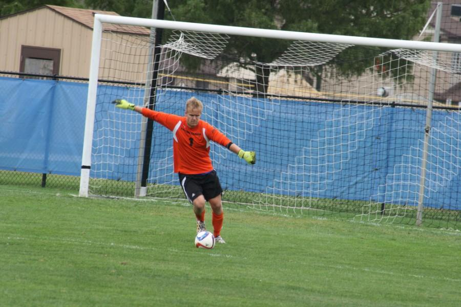 Sophomore goalkeeper Mike Novotny has a 3.0 GAA in eight games this season.