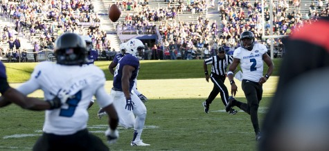 Senior quarterback Jalen Whitlow was 10-19 in passing and ran for six yards during the Panthers' 41-0 defeat by Northwestern on Sept. 12 at Ryan Field in Evanston, Ill.