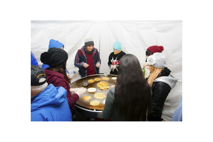 Pancake batter serves community, raises awareness
