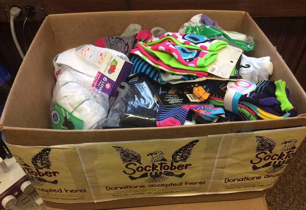 Student Community Service Office along with others around campus have been collecting socks since the middle of October and will continue to do so until November 9, 2015. They are collecting socks on behalf of the homeless, with boxes in various locations about campus.