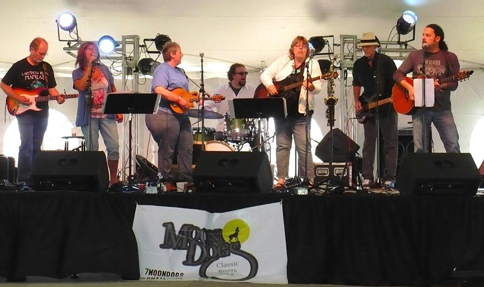 Moondogs, Local band, enjoys performing together.
