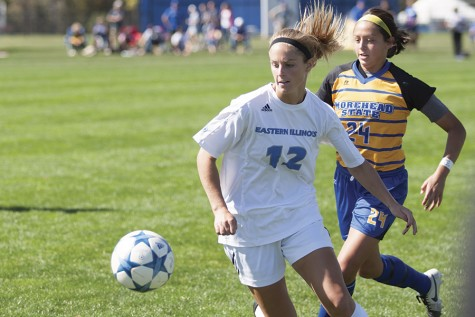 Senior midfielder Molly Hawkins has had seven goals and two assists in 16 games played so far during the season.