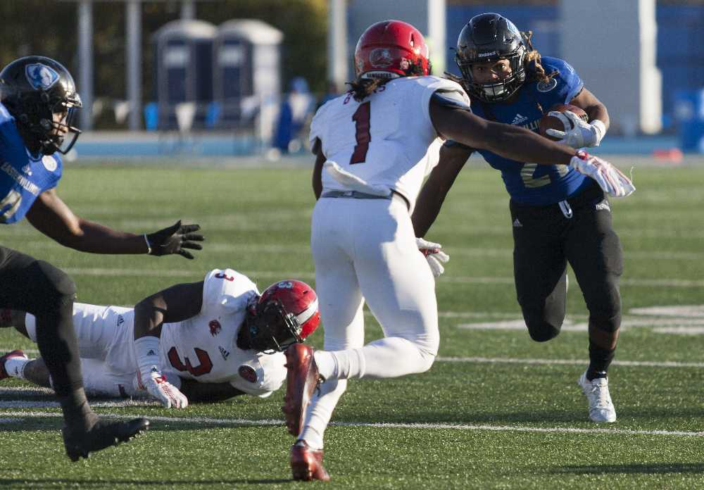 Senior quarterback Jalen Whitlow threw six passes for 55 yards and rushed 81 yards during the Panthers' 24-3 loss to Jacksonville State on Nov. 7 at O'Brien Field. The Panthers Tennessee-Martin 23-21 in Martin, Tenn. Whitlow ran for 142 yards and passed for 80 yards during the game.