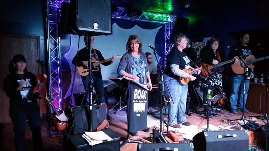 Moondogs, local band performing during ROARs fundraising event on January 2015.