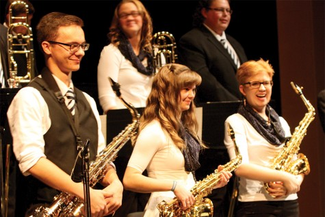 Members of the Eastern Illinois University Jazz Lab Band performing on November 20, 2014 in the Doudna Fine Arts Center.