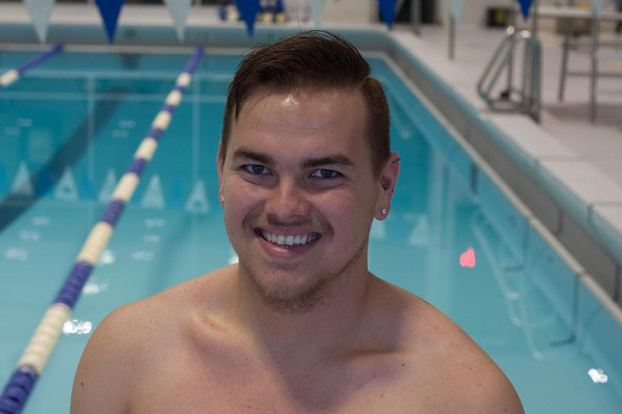 Junior Austin Parrish has made his return to the pool after a heart condition called Atrial Fibrilation. Parish has swam in two meets this year and has dropped times.