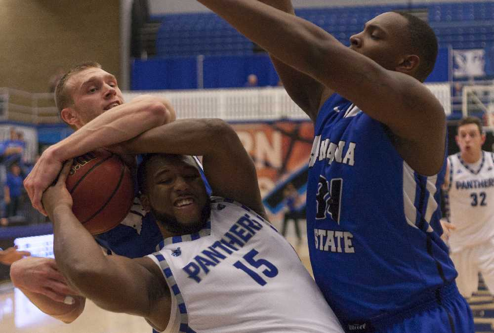 Senior wing Trae Anderson scored 12 points during the Panthers' 66-62 win over Indiana State on Tuesday at Lantz Arena.