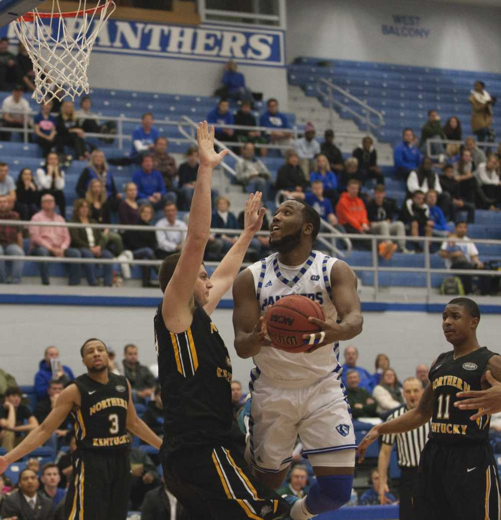 Senior wing Trae Anderson scored 14 points during the Panthers' 79-73 win over Northern Kentucky on Dec. 5 in Lantz Arena.